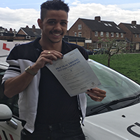 Ben passing his test first time with LGBTQ Drive April 2018