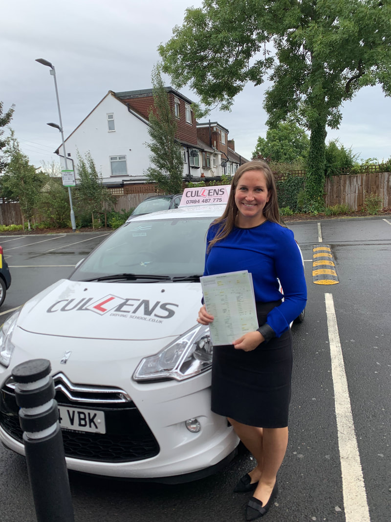 Edwina passing her driving test with LGBTQ Drive 2019