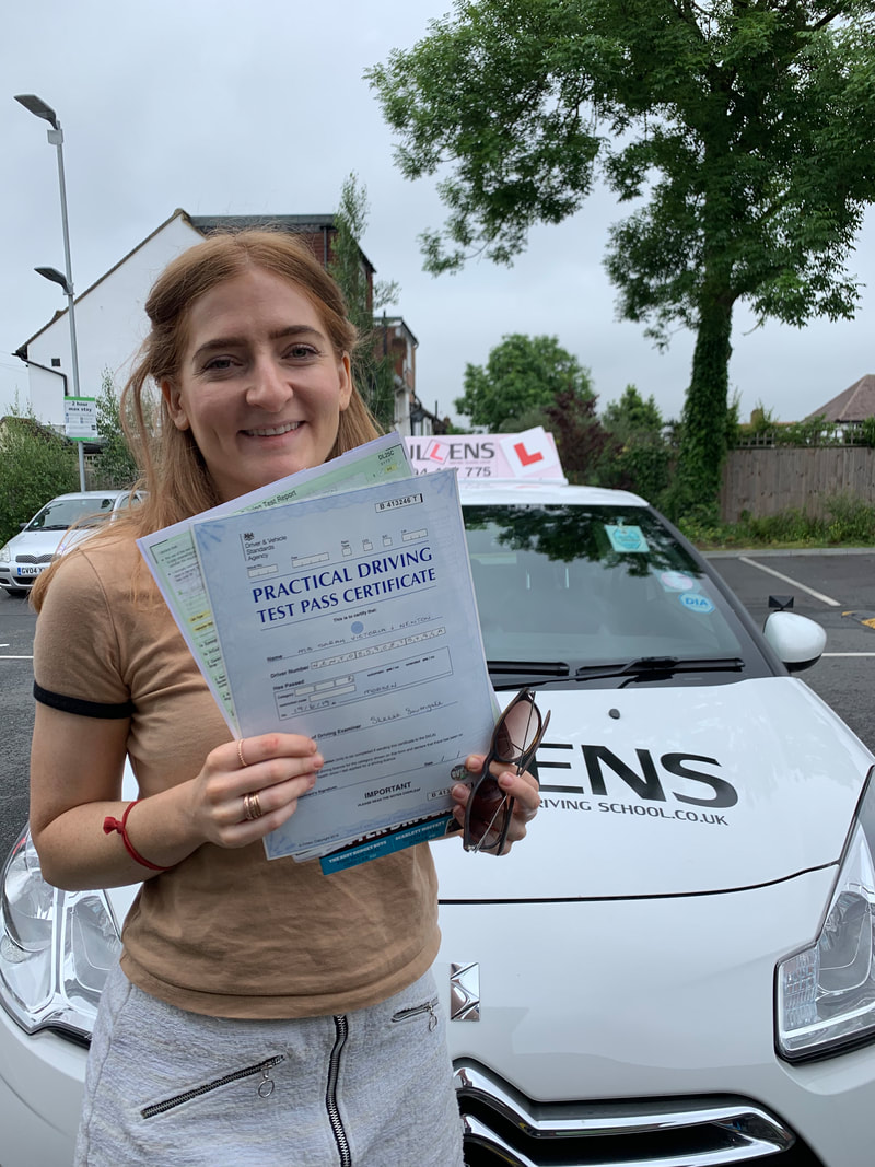 Sarah Passed her test with LGBTQ Drive June 2019Picture