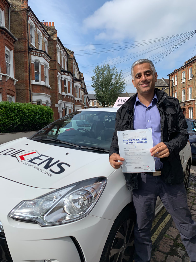 Dee passed his test first time June 2019 with LGBTQ Drive