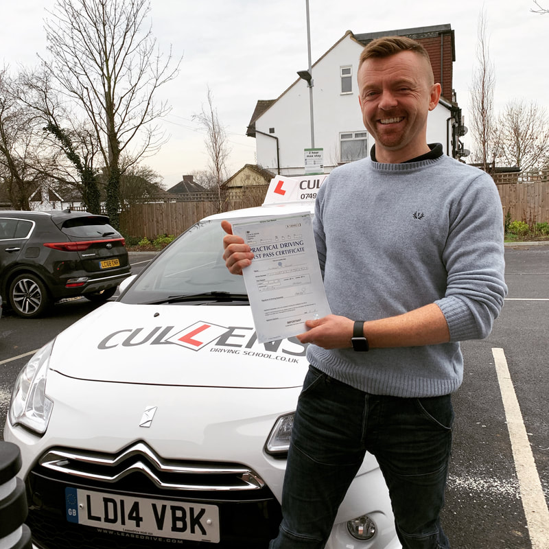 Anthony passing his test with LGBTQ Drive 2019