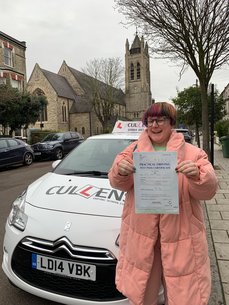 Mable passed her test first time with LGBTQ Drive