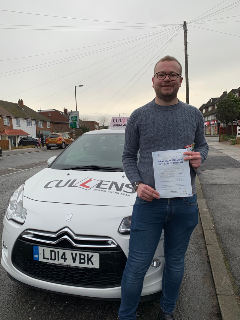 Dave passed his test with LGBTQ Drive Jan 2020